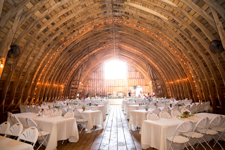 Cady Acres Wedding Barn Interior